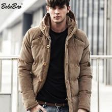 BOLUBAO 신사복 겨울 자켓 코트 패션 품질면 패딩 방풍 두꺼운 따뜻한 소프트 브랜드 의류 후드 남성 파커