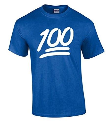 Cheap Graphic Tees Short Sleeve Men Summer 100 Emoji White Gift Christmas O-Neck Tee Shirt