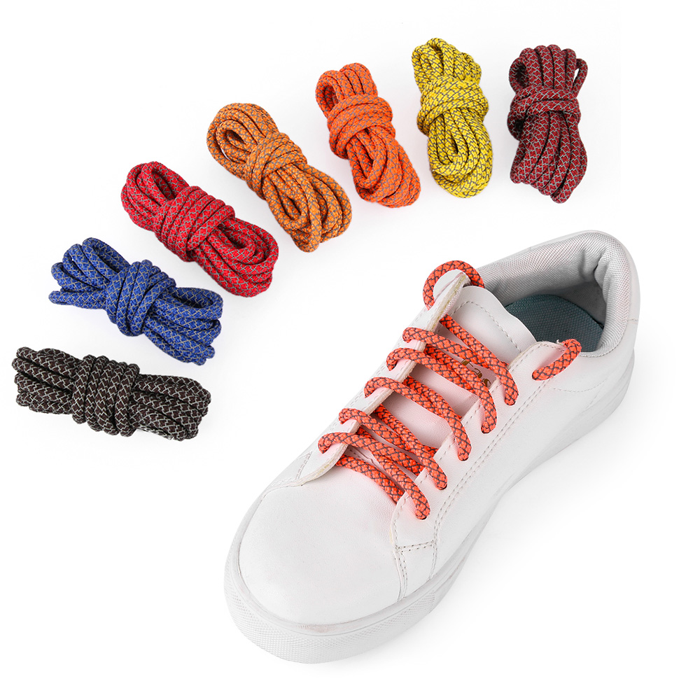 3M Reflective Round Rope Shoe Laces Shoelaces Sneakers Athletic Sports Strings