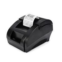 Original ZJ 5890K Mini 58mm Thermal Receipt Printer Low Noise Roll Port POS Receipt Thermal Printer with USB Port EU PLUG