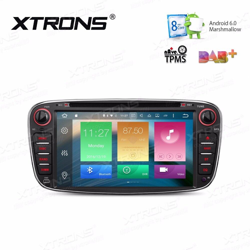 """imágenes para XTRONS 2 Din 7 """"Android 6.0 Octa 8 Core Coches Reproductor de DVD DAB + WiFi 4G Navegación de los GPS para Ford Focus Mondeo S-max C-max Galaxy II II"""