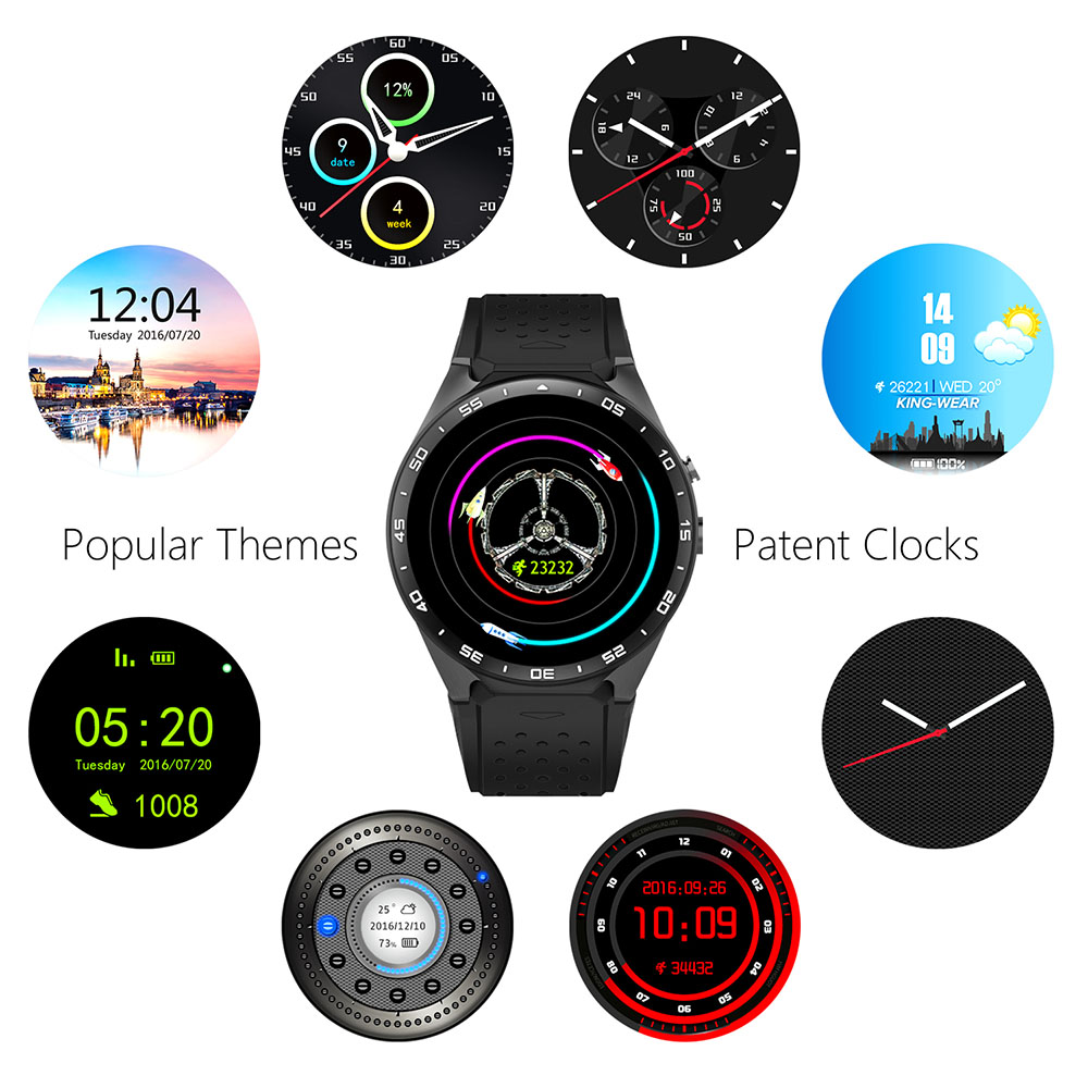 2017 Hot kw88 Android 5.1 Smart Watch 512MB + 4GB Bluetooth 4.0 WIFI 3G Smartwat