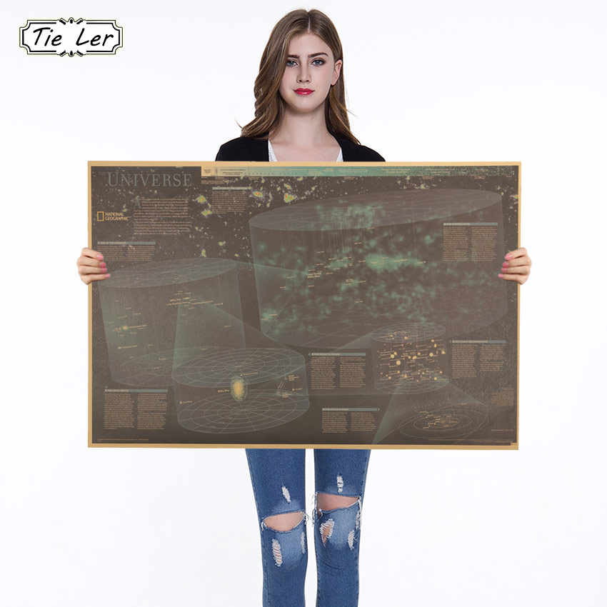 Retro Kraft Paper Poster Geographic Universe Reference Map Decorative Paintings Home Decor Wall Sticker