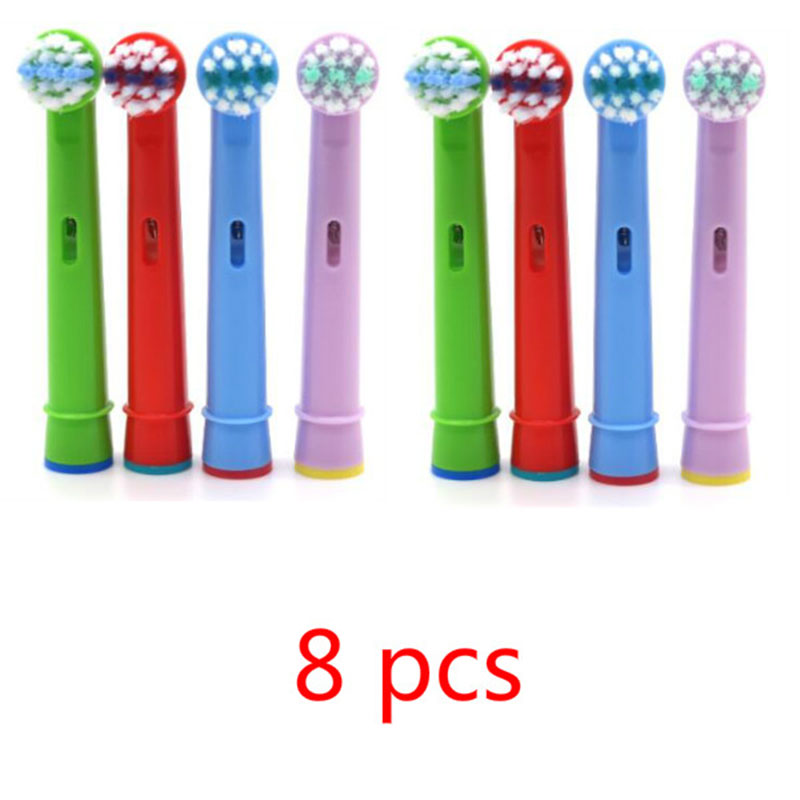 8pcs/pack Cute Children Soft-bristled Electric Toothbrush Heads Brush Heads Replacement for Oral Hygiene B Sensitive SB-17A venicare replacement toothbrush heads for philips sonicare e series essence xtreme elite and advance 2 4 6 8pcs lot
