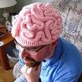 Legal engraçado Personalidade Inverno Cérebro Horrível Chapéu de Lã Quente Beanie Caps Presentes das Mulheres dos homens Handmade