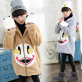 Girls Winter Jackets Cotton Hooded Coats For Girls Outerwear 2016 Long Winter Parkas Thicken Warm Snowsuits 4 6 8 10 12Years