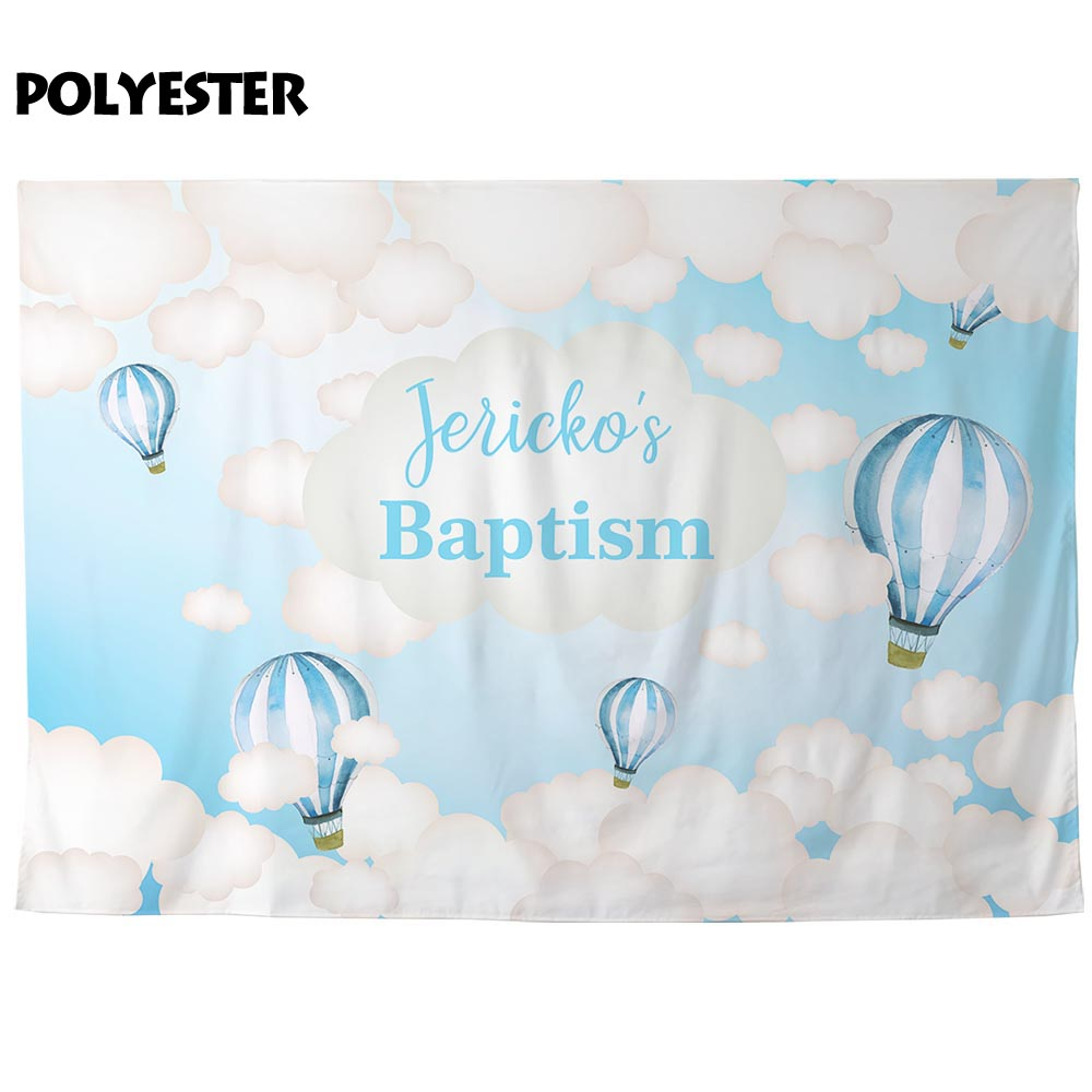 Personalised New Baby//Child Hot Air Balloon Name Birth Print Christening Gift