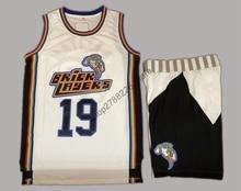 62956425de0 Aaliyah #19 Bricklayers Basketball Jersey 1996 MTV Rock N Jock Jersey  Shorts Set White(