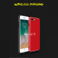 Qi Wireless Charger Receiver Case for iPhone 6 7 6s 7 plus Phone Cover with Adapter Used on Wireless Charging Pad