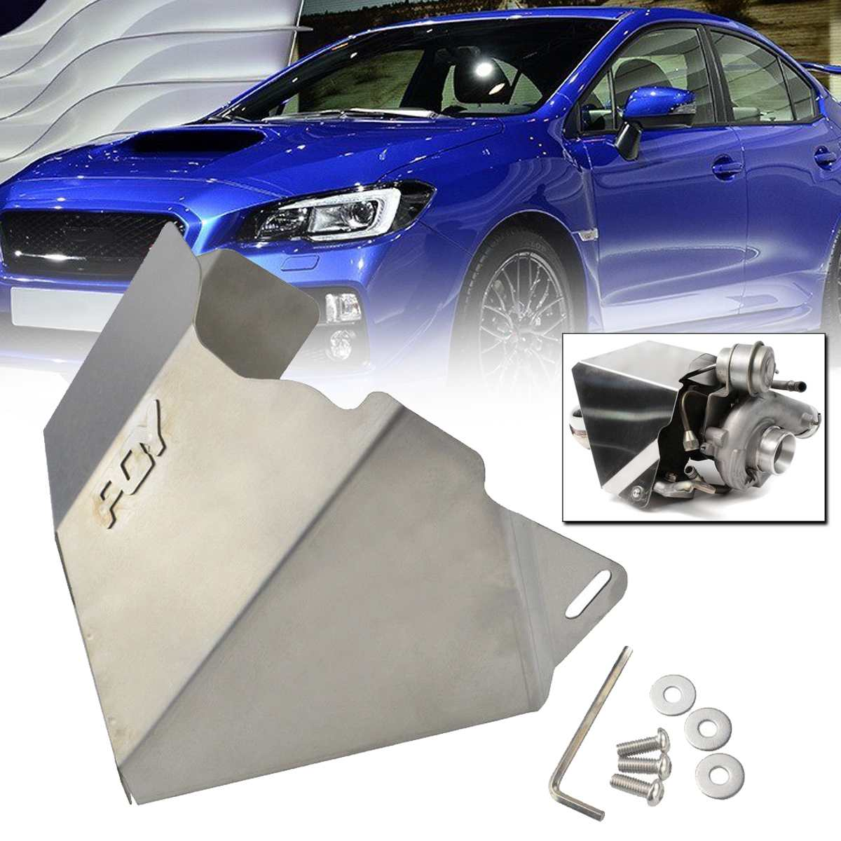 Turbocharger Turbo Heat Shield Cover For Subaru WRX 02 14 / STi 04 18 /For Legacy GT 05 15 / Forester XT 10 16 Shield Blanket