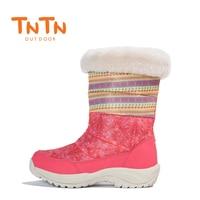 2017 TNTN womens outdoor trekking stivali da neve d'inverno scarpe piume di lana impermeabile stivali da donna