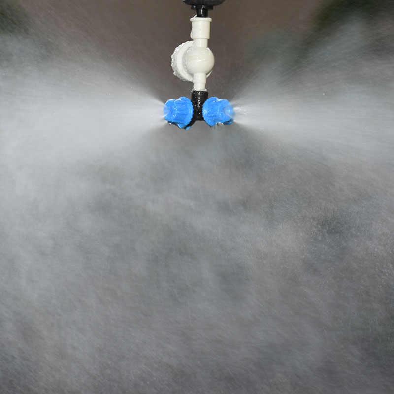 Cieplarnianych dysza mgielna krzyż rozpylanie dysza do zraszacza wody kroplówki kroplówki kroplówki System do podlewania i nawadniania, 1 zestaw
