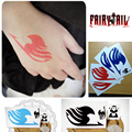 Free Shipping (20 pieces/lot) Fairy Tail Body Sticker Natsu Elza Gray Lucy Zera Yuri Zero Cosplay Tattoos Waterproof Stickers