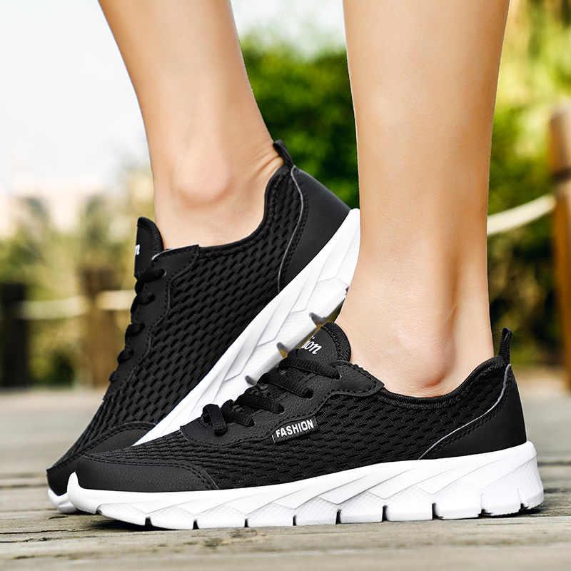 POLALI Plus ขนาด 38-48 ฤดูร้อนผู้ชายรองเท้าผ้าใบ Air Mesh Men รองเท้า Breathable สบายๆรองเท้าผู้ชายแฟชั่นรองเท้าผู้ชาย
