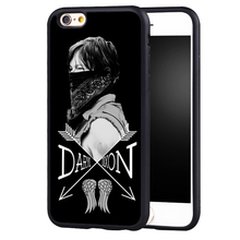 The Walking Dead Norman Reedus Daryl Dixon Printed Soft Rubber Phone Cases For iPhone 6 6S Plus SE 5 5S 5C 4 4S Back Shell Cover
