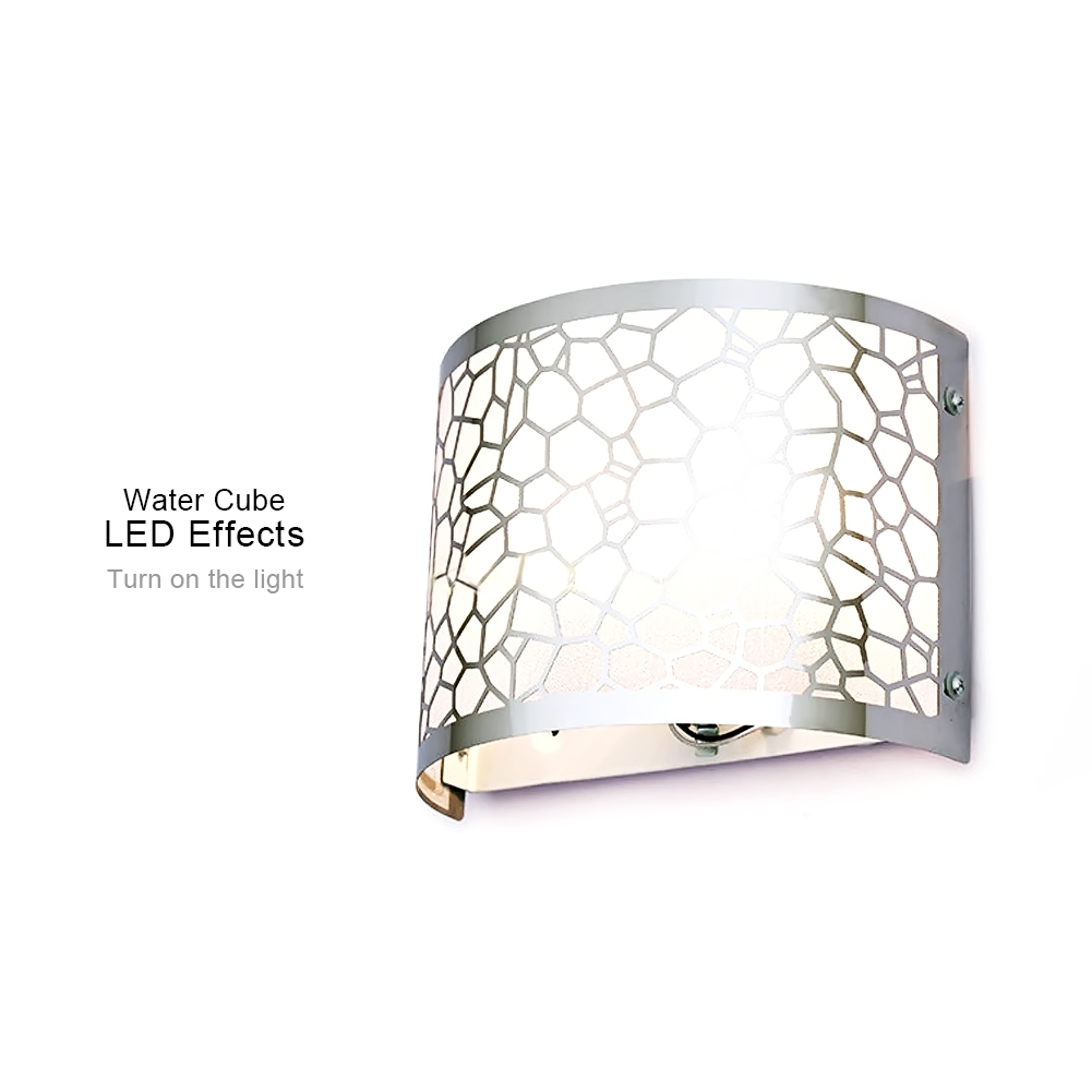 Modern water cube stainless steel wall lamp american indoor lighting 1wall lamp not include bulb aloadofball Gallery