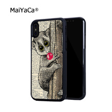 Lemur with Bubblegum pop  soft hard skin cell phone cases for iPhone4s 5c 5s 6 6s 6plus 6Splus phone shell bubblegum pop