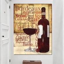 Постер с цитатами на бутылки красного вина современная кухонная
