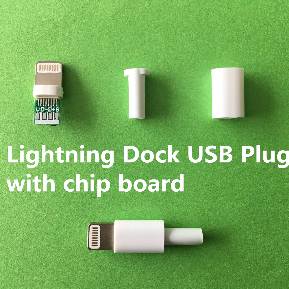 4PCS/LOT YT2157  Lightning Dock USB Plug With Chip Board Or Not  Male Connector Welding Data OTG Line Interface  DIY Data Cable