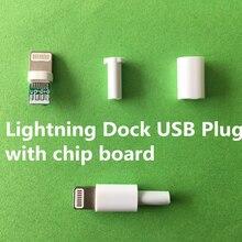 Plug usb dock lightning 4 pçs/lote yt2157, com placa chip ou conector macho, dados de soldagem, interface de linha otg diy cabo de dados