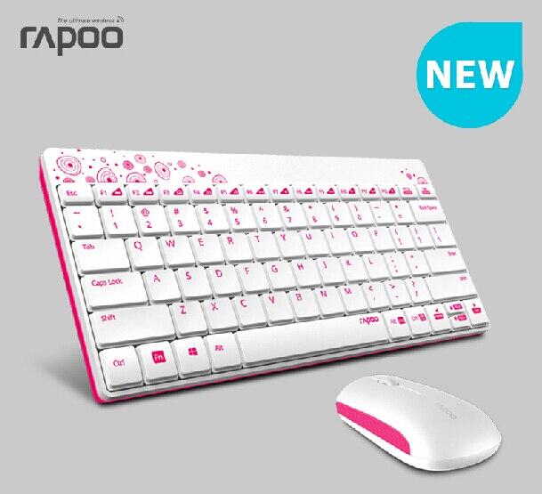 Rapoo/8000 ensemble souris et clavier sans fil pour ordinateur kit de souris mini clavier ultra-mince