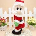 Подарок на день рождения для Милые дети прекрасный Рождественский электрические игрушки Санта-Клауса танцы со звуком игрушки смешные новогодние украшения подарки