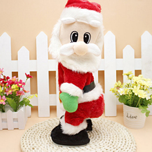 Cute kids lovely Christmas electric Santa Claus dance doll with sound toys funny Xmas decorations Birthday gifts kerstman danse