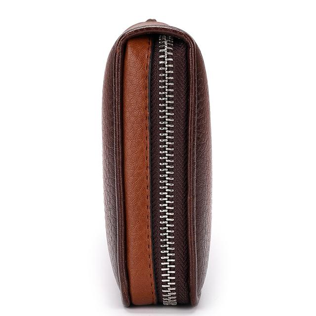 Long Leather Men's Bracelets Wallets of 3 Types