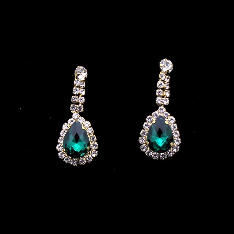 Dasma e kristalit e kuq dhe e gjelbër barok Promovimi Tiara - Bizhuteri të modës - Foto 3