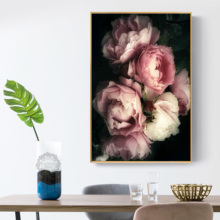 Posters and Prints Blush Flower Pink Rose Nordic Wall Art Canvas Painting Picture for Living Room scandinavian Decor