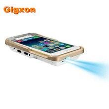 Gigxon-i60 + dlp pico proyector led para iphone 6 series-80 lúmenes wvga 854×480
