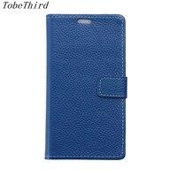 TobeThrid ZTE Blade A520 Case Luxury Litchi Grain Genuine Leather Wallet Magnetic Stand Case For ZTE