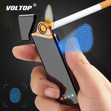 Metal Strip Ultra-thin Cigarette Lighter Car Accesories USB Charger Adapter Windproof Electronic Double-sided Touch Induction