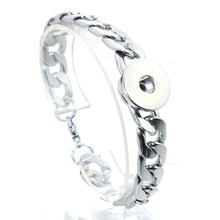Snap Bracelet Button Jewelry Lobster Clasp Stainless-Steel Wholesale High-Quality Chain-Link