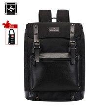 Suissewin натуральная кожа рюкзак bagpack mochila masculina мужчины школьные сумки swissgear swisswin рюкзаки черный sac dos оксфорд