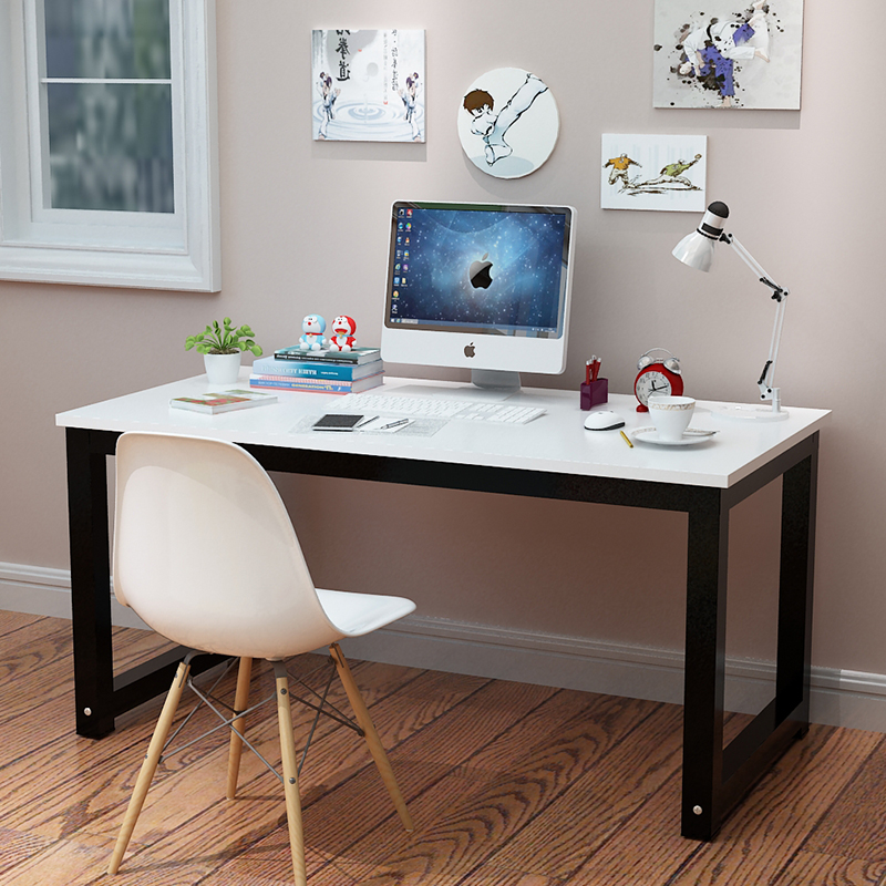 2018 Home Computer Desk Office 120 * 60 Cm Strong Thickening Heavy Metal Stents And Beautiful
