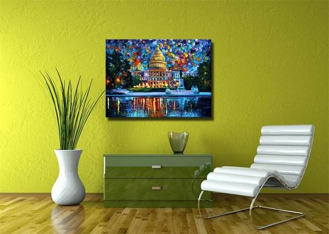 Online Shop The White House Oil Paintings Hand Painted Modern ...