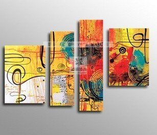 Oil painting on canvas modern music deco painting 100% handmade original directly from artist  Art handmade abstract YP641