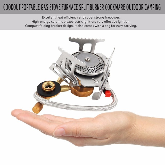 1pc Cookout Portable Gas Stove Furnace Split Cookware Outdoor Camping Stove with Carrying Bag free shipping