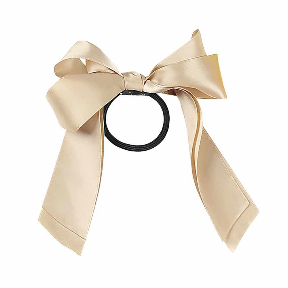 Горячая Распродажа, повязка для волос, Женская Дамская лента, бант, веревка, резинка для волос, конский хвост, повязка для волос для женщин, аксессуары для волос