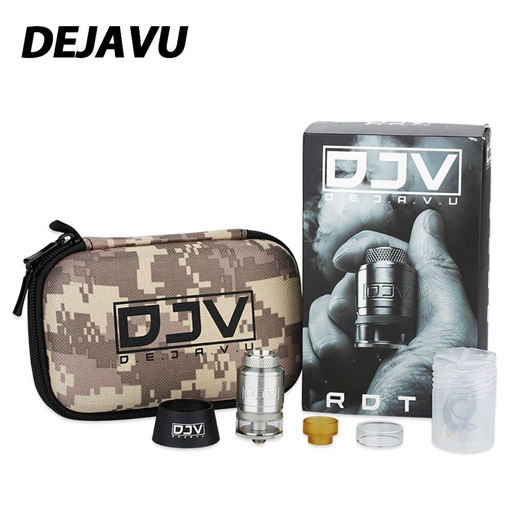 DJV DEJAVU RDTA 2 ml capacité atomiseur w/double bobines bas et côté flux d'air 24mm RDTA Vape réservoir E-cigarette vaporisateur pour Kit Mod