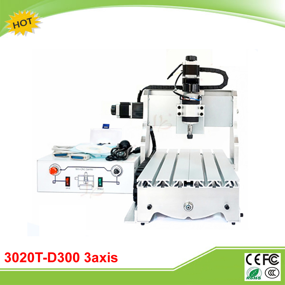 3020T-D300 3 axis mini CNC milling machine with 300W spindle free tax to EU free tax to eu country 3 axis cnc router 3020 800w water cooling spindle milling machine for industrial use