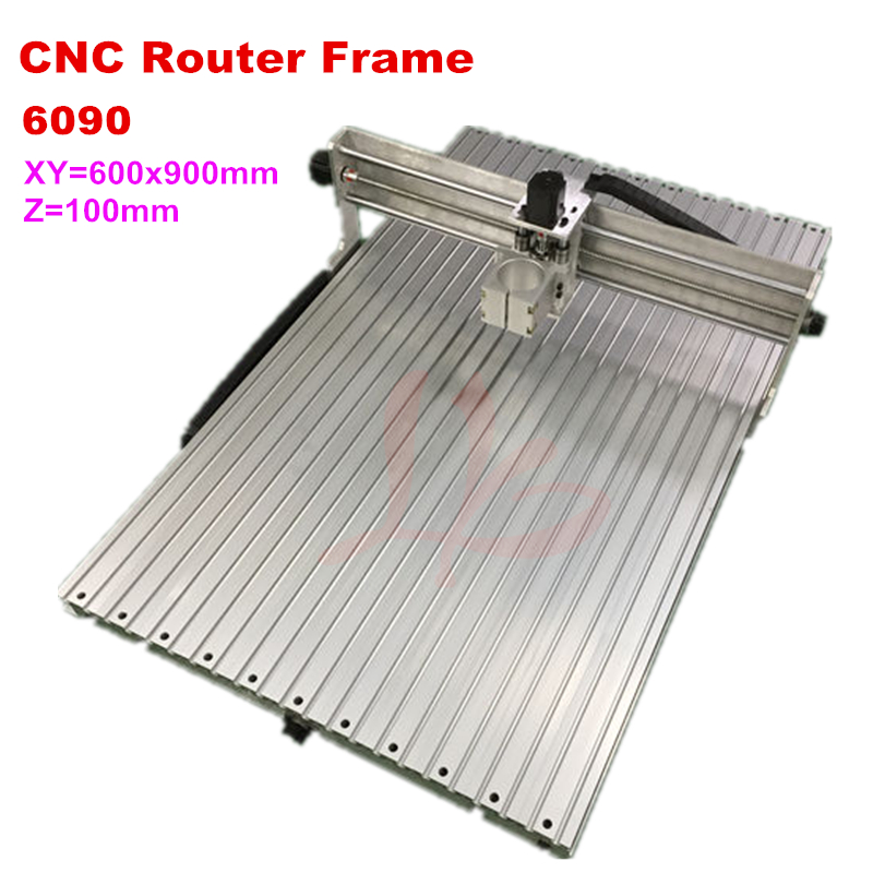 cnc milling machine frame 6090 9012 suitable for 2200W spindle cutting engraver router machine discount cnc aluminium router 6090