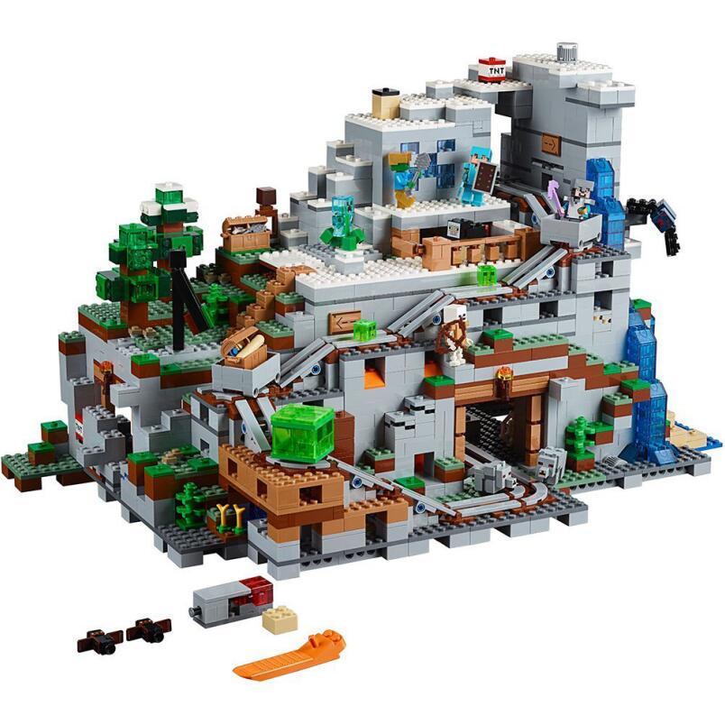 18032 18008 mon monde bambins fer Golem enfants jouets montagne grotte blocs de construction brique compatible avec Legoeding 21128 21137