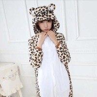 2017 TOP NEW HOT Leopard Bear Adult Pajamas Cosplay Cartoon Animal Onesie Sleepwear Christmas Halloween Costume