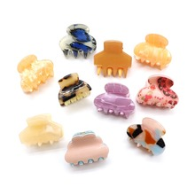 6pcs/set Fashion Cute Acrylic Hair Clip Claw Leopard Printing Shell For Women Girl Hairpins Child Wedding Jewelry Accessories claw hair clip 6pcs