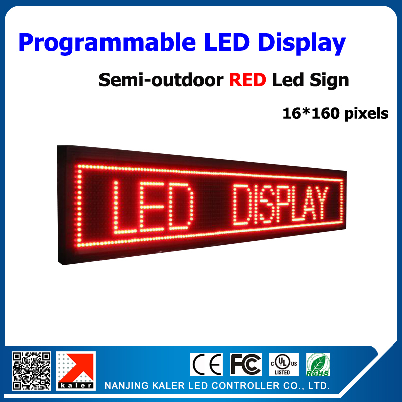 Moving Message Led Billboard P10mm 1/4 Scan 24*168cm Led Display Semi-outdoor Led Screen Board DIP Led Sign