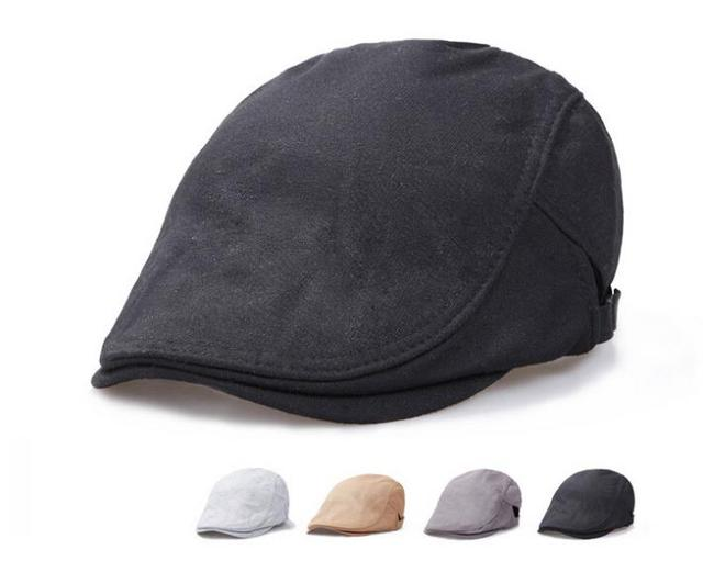 744d45651e6 Wholesale 10pcs lot Style Men Spring Flat Caps Women Summer Black Cotton Hats  Mens Blank