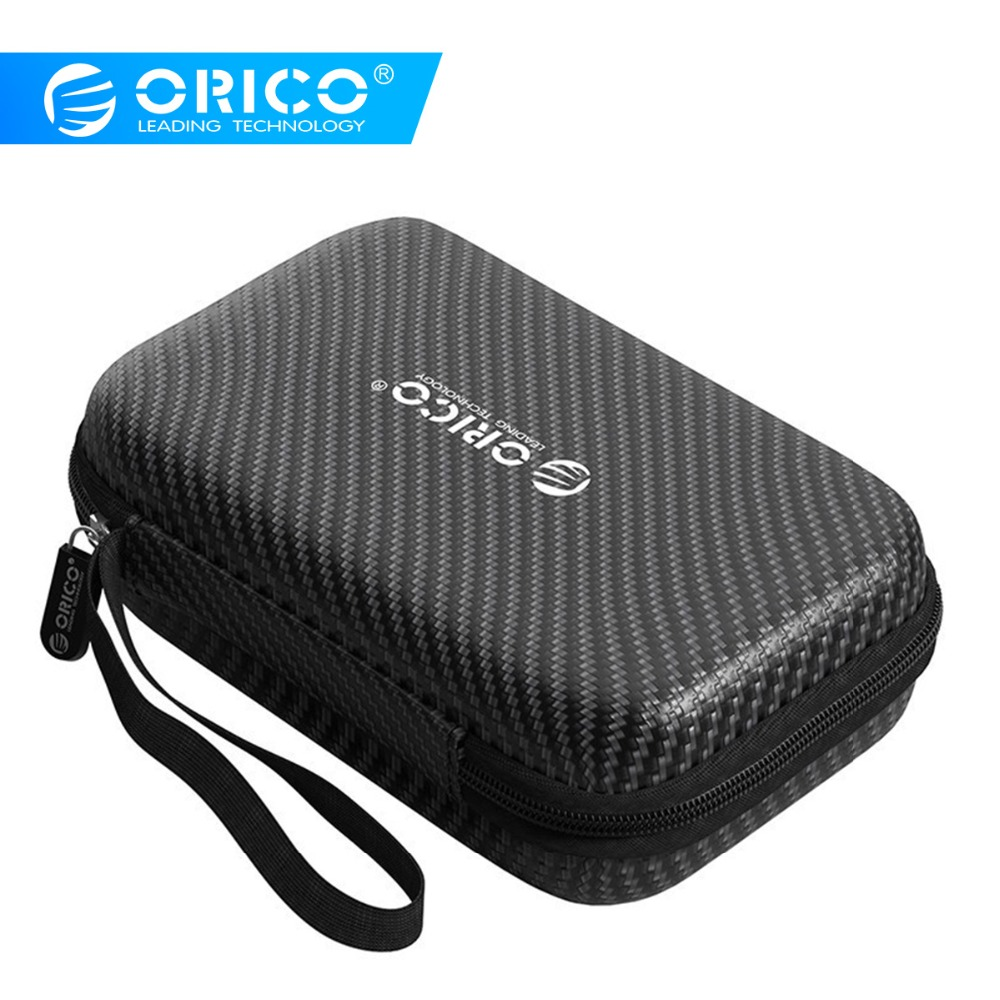ORICO HDD Protection Bag Hard Drive Storage Bag Case for 2.5 Inch External Portable HDD SSD Waterproof Boxes With Lanyard