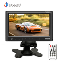 Podofo Bluetooth 7 Car Rear View Monitor Slim Dashboard Screen, Car Video Audio FM Transmitter / MP5 / USB / Micro SD Card Slot